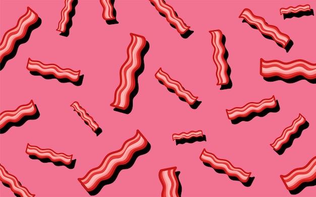 ベーコンのパターンの食べ物の壁紙イラスト