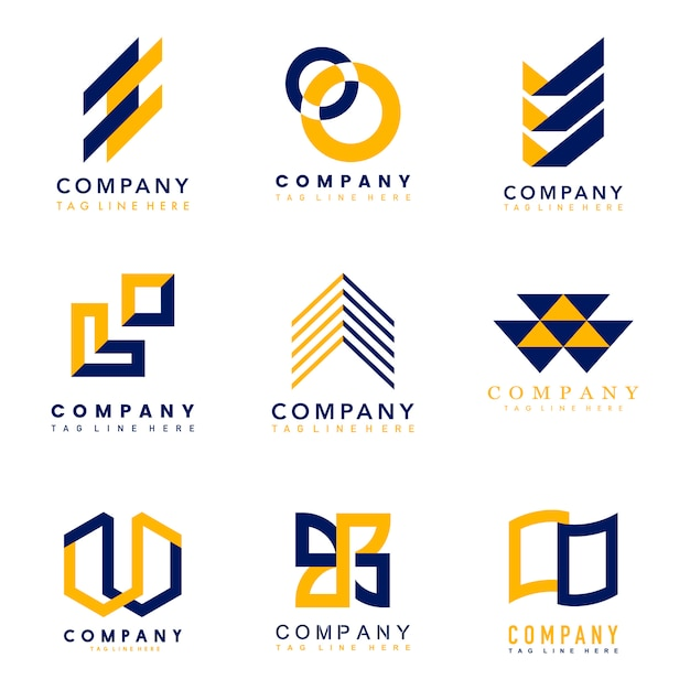 会社ロゴデザインアイデアのセット