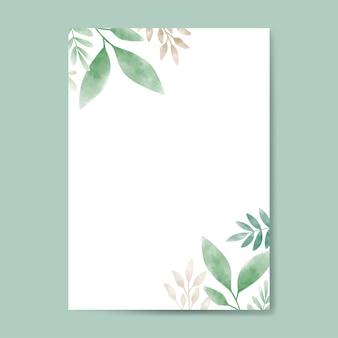 Листья акварелей с дизайном пространства для копирования