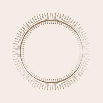 Круглый дизайн с орнаментом