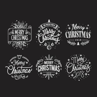 クリスマスの挨拶バッジのセット