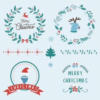 Набор рождественских значков
