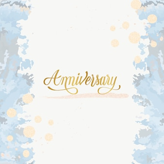 パステル結婚式の記念日カードベクトル