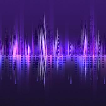 Фиолетовый векторный фон эквалайзера