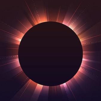 空のオレンジ色の円ネオン看板ベクトル
