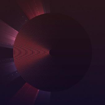 赤い円のパターンの背景ベクトル