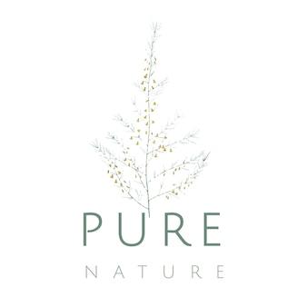 純粋な自然のロゴ