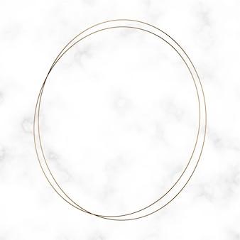 Золотой шаблон круглой рамки