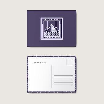 ポストカードデザインテンプレートモックアップ