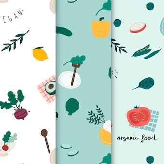 健康なビーガンの食べ物の壁紙