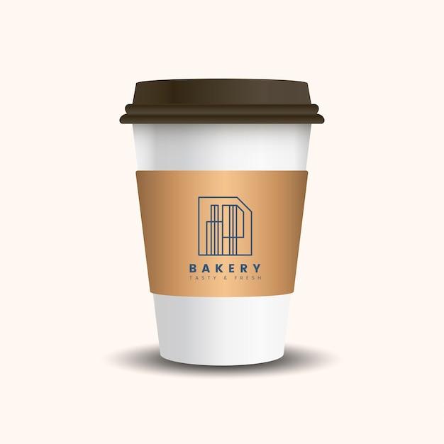 Чашка для горячего напитка с матовым рукавом