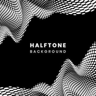 黒と白のハーフトーンの背景