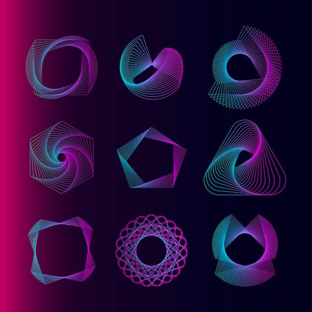 抽象的な幾何要素ベクトルを設定