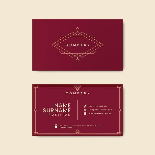 Макет винтажной визитной карточки