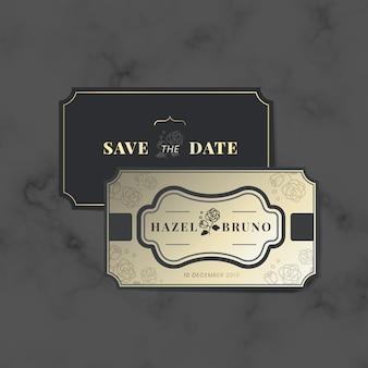 Набор векторных наклеек для приглашения на свадьбу