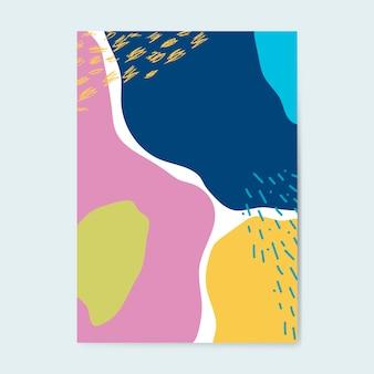 カラフルなメンフィススタイルのポスターベクター