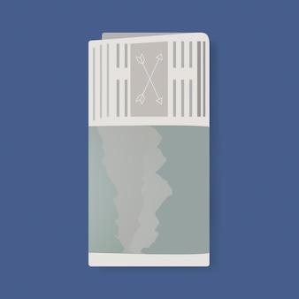 矢印グラフィックイラスト付き新聞
