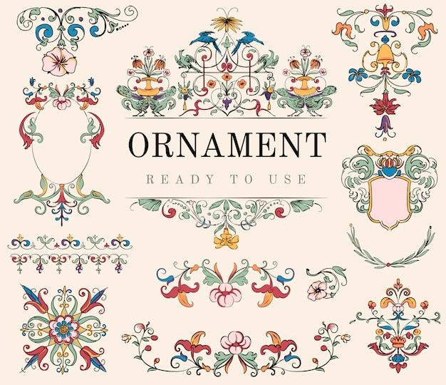 ヴィンテージ繁栄の装飾のイラスト