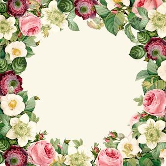 美しい咲く野生の花輪の花輪