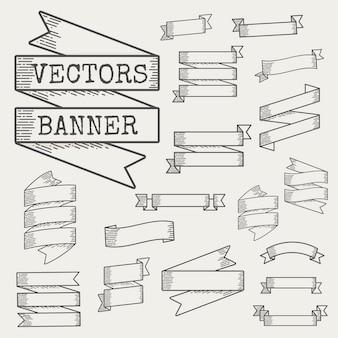 Иллюстрация набора баннеров ленты
