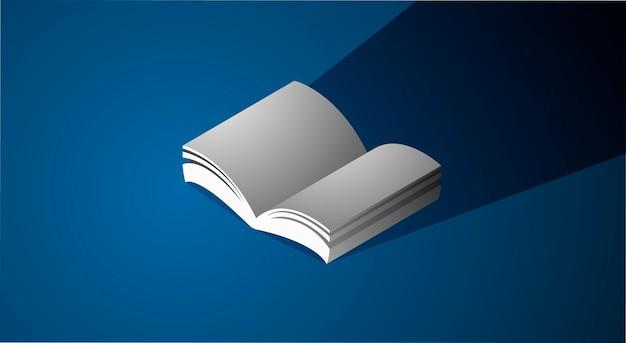 ブックアイコングラフィックページ教育コンセプト