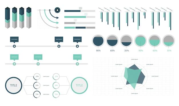 インフォグラフィックの要素を設定する