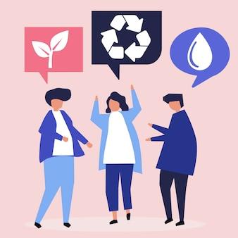 環境保全の考えを持つ人々