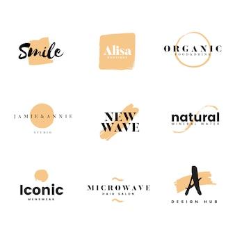 Коллекция логотипов и брендинга вектор