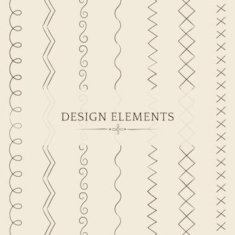Разделительная линия дизайна элементов вектор коллекции