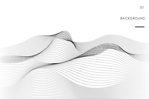 データ視覚化動的波パターンベクトル