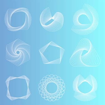 Набор абстрактных геометрических элементов вектора