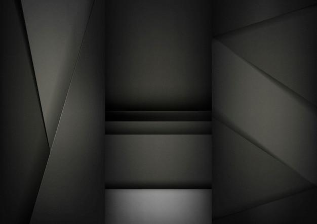 Набор абстрактных фоновых конструкций в черном
