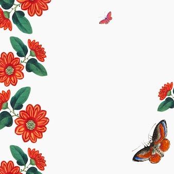 花と蝶の壁紙を特集した中国の絵