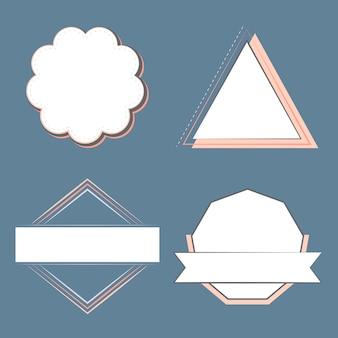 Набор значков и эмблем вектора
