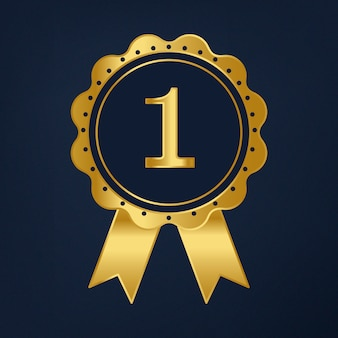 Первый приз ленты премии вектор
