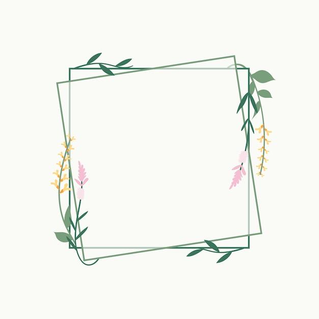 花のフレームバッジ