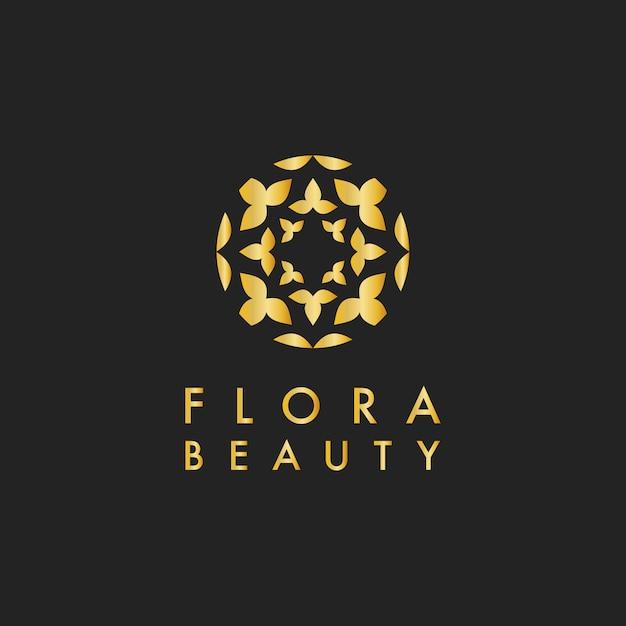 植物美容デザインロゴベクトル