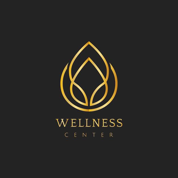 ウェルネスセンターデザインロゴベクトル