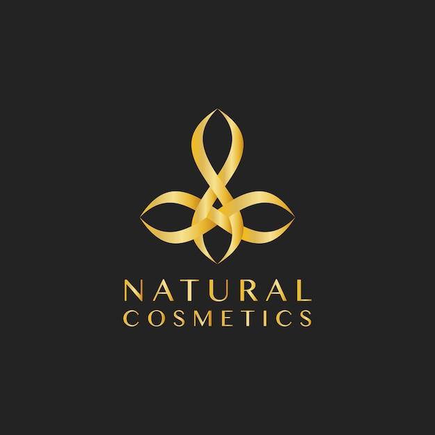 天然化粧品のデザインロゴベクトル