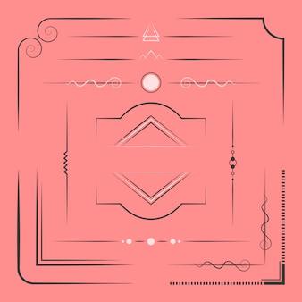 デザイン要素ベクトルのセット