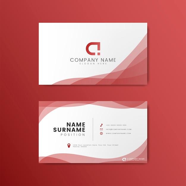 Современный геометрический дизайн визитной карточки