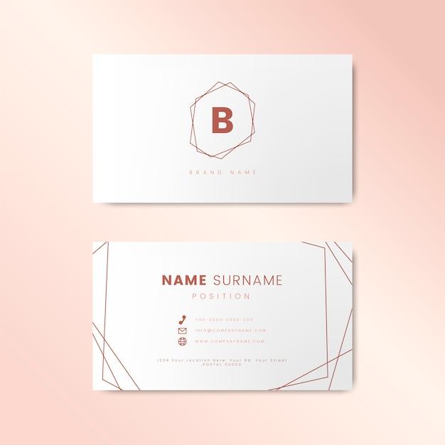 Минимальный дизайн визитной карточки с геометрическими фигурами