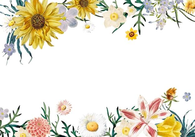花のフレームの背景