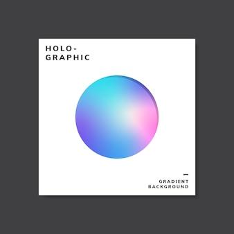 カラフルなホログラフィックグラデーションの背景のデザインサンプル