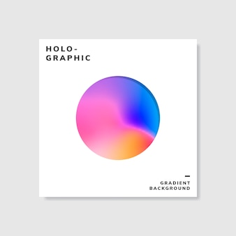 Красочный голографический образец градиента фона