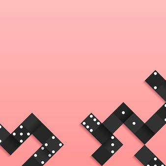 Черные блоки кадр на пустой розовый фон вектор