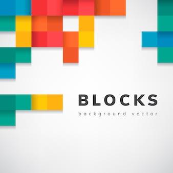 Красочные блоки на белом фоне пустой вектор