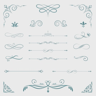ヴィンテージの装飾的なデザイン要素