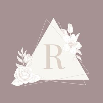 ヴィンテージ花紋章