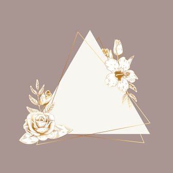 ロマンチックな花のバッジ